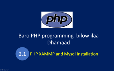 XAMMP and Mysql Installation in Somali