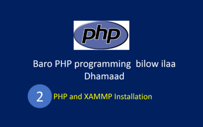 PHP and XAMMP Installation in Somali