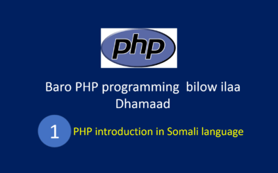 PHP introduction in Somali language